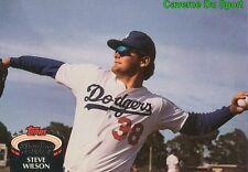 626  STEVE WILSON  LOS ANGELES DODGERS TOPPS BASEBALL CARD STADIUM CLUB 1992
