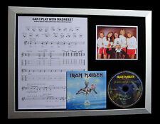 IRON MAIDEN Can I Play Madness QUALITY CD LTD FRAMED DISPLAY+EXPRESS GLOBAL SHIP