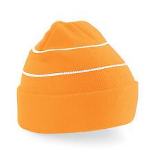 Personalised Embroidered Hi Vis Beanie Hat Pullover Custom Printed Wooley Hat