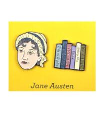 Jane Austen & Novels Twin Pin Set - Badge / Pin / Lapel Pin