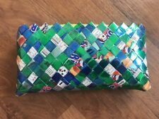Plaited Handbag Made From Wrappers