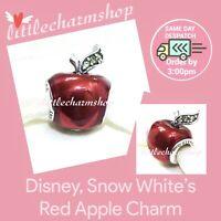 New Authentic Genuine PANDORA Disney, Snow White's Red Apple Charm - 791572EN73