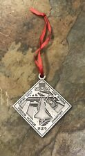 NASA Pewter Christmas / Holiday Ornament - Discovery STS-124 - 2 Sided