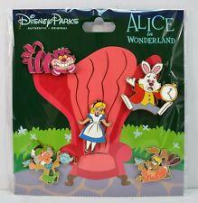 Disney Parks Exclusive 2019 Alice in Wonderland Teacups Booster 5 Pin Set NEW
