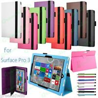 Slim Fit 12 inch Microsoft Windows Surface PRO 3 Stand Case Leather Folio Cover