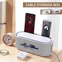 Boîte de Rangement Câble Organisateur Gestion Sécurité Support de téléphone