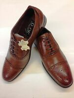 Men'sTan Brogue Formal Oxford Lace Up Wedding Smart Casual Men's  Leather Lined