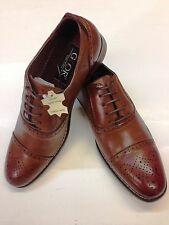 Men's Designer Tan Brogues Shoes Vintage Look Stitched sole