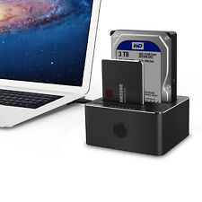 "2.5"" / 3.5"" SATA USB 3.0 HDD Hard Drive External Dual Bay Clone Docking Station"