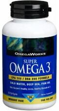 OmegaWorks Super Omega 3 EPA 300 / DHA 200 Formula Fish Oil Softgels 50 ea