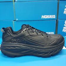 NEW Hoka Bondi LTR M 1019496/BLK Black Leather Running Shoes For Men's
