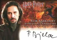 Harry Potter and the Goblet of Fire Predrag Bjelacas Autograph Card
