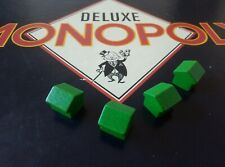 Monopoly Deluxe (1986)- Spares Buildings - Wooden houses