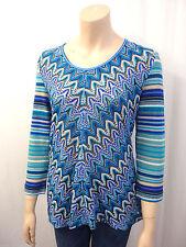 Mehrfarbige 3/4 Arm Damen-Pullover & -Strickware ohne Verschluss