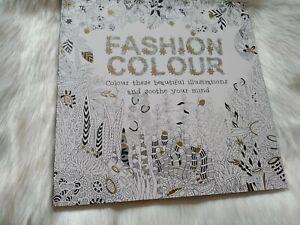 Adult Colouring Book Fashion Colour New