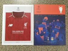 More details for 2019 - champions league final programme + card - tottenham v liverpool