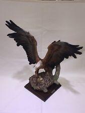 "Giuseppe Armani Bald Eagle Protecting Babies in Nest Figurine Sculpture 17"" Tall"