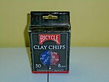 Bicycle Clay Chips Tournament Quality 50 Count 8 Gram Set