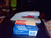 Swingline Large Stapler with two full boxes of staples listed Swingline.