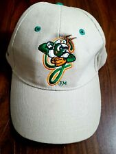 Greensboro Grasshoppers Hat Adult MLB Tan Baseball Cap Adjustable Optima