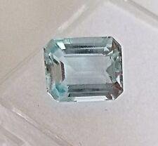 2.91 Carats Natural Genuine Aquamarine Loose Stone Emerald Cut 10X8mm gemstone
