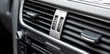 Stainless Steel Console A/C Vent Knob Decal Cover Trim For Audi A4 B8 2013-15