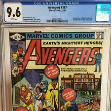 Avengers #197 CGC 9.6 Perez McLoed Cover Red Ronin Appearance White Pages