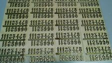 "5/8"" Self-Adhesive Gold Arabic Clock Numbers-NEW 20 SETS -Self-stick USA made"