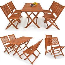 Set di tavolo e sedie da giardino in legno set da pranzo mobili da esterno