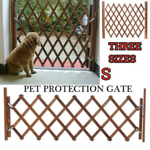 Pet Protection Wood Door Folding Dog Gate Expanding Portable Fence New