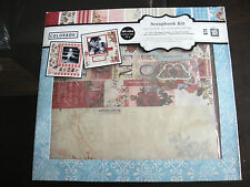 Family 12X12 Scrapbooking Kit and ALBUM with stickers, cut-outs, paper accentNEW