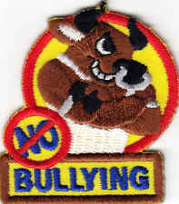 """NO BULLYING""  Iron On Embroidered Applique Patch Bully"