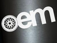 1 x 2 Plott Aufkleber OEM Sticker Autoaufkleber Turbo Stickerbomb Original Fun