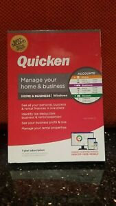 QUICKEN MANAGE YOUR HOME & BUSINESS 2021 FOR Windows CD , 1 YR SUBSCRIPTION, NEW