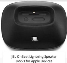 JBL Onbeat Micro Speaker Dock for iPhone/iPod Lighting Connector AC + Battery