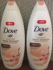 Dove SNOW BLOSSOM Nourishing  Body Wash  Limited Edition  (22 OZ each)  Lot of 2