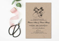 100 Rustic Mickey and Minnie Mouse Disney Wedding Invitations Invites!