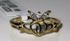1926 gold MARQUISE Stainless steel Irish Claddagh Friendship Band Celtic Ring