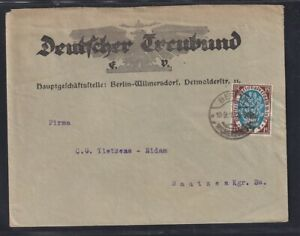 DR. Reklame-Brief,  Deutscher Treubund Berlin  mit EF.  Mi.-Nr. 108