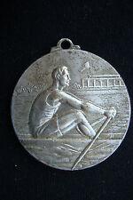 RARE ROMANIA R.S.R 1976 JUNIOR CHAMPIONSHIP Canoe Kayak SILVERED AWARD MEDAL