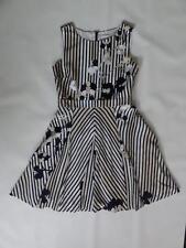 DIANE VON FURSTENBERG INVERSE KIMANA SILK/WOOL DRESS, Stripe, Size 6, MSRP $545