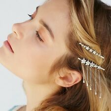 FREE PEOPLE Bronze Star Dangling Bobby Pins Chain Set Of 2 NEW