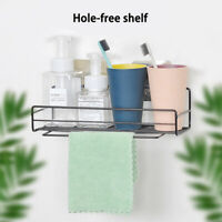 Wall Mounted Shower Caddy Shelf Kitchen Bathroom Storage Holder Organizer Rack