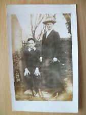 Vintage Children Postcard- MOTHER  & YOUNG SON FORMAL STUDIO PORTRAIT