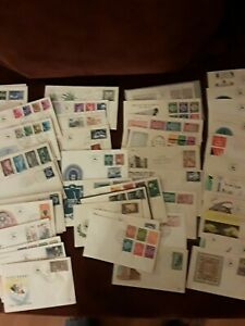 Israel old stamps FDC covers lot of 70