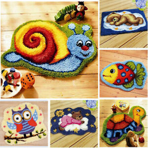 Latch Hook Rug Making Kit Do It Yourself for Beginners Embroidery Craft Kits DIY