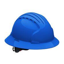JSP Hard Hat Full Brim with 6 Point Ratchet Suspension, Blue