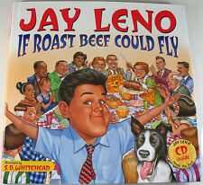 Jay Leno - If Roast Beef Could Fly : Book and CD. Hardcover 2004. NEW