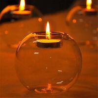 Crystal Glass Candle Holder Wedding Bar Party Dinner Decor Candlestick LJU