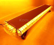 """Roof 88 LED 47"""" Emergency Strobe Light Bar Amber Tow Truck Flash Warning 12-24V"""